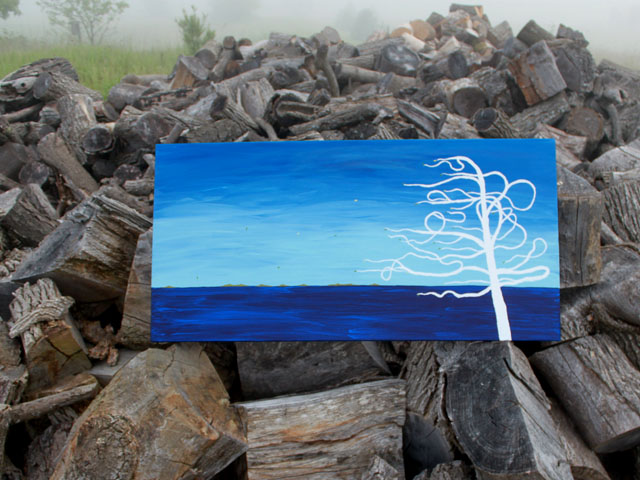 Coastal Tree Acrylic on canvas 2012