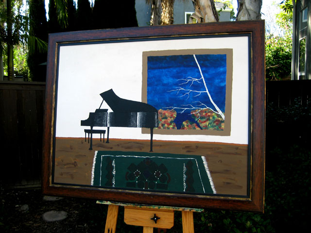 Piano Acrylic on canvas 1996