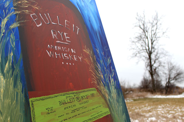 Bulleit Rye Bourbon Acylic on canvas 2012
